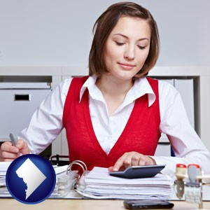 a bookkeeper - with Washington, DC icon
