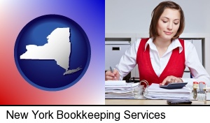 New York, New York - a bookkeeper